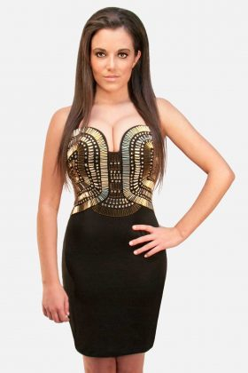 Black and Gold Dress, Bodycon
