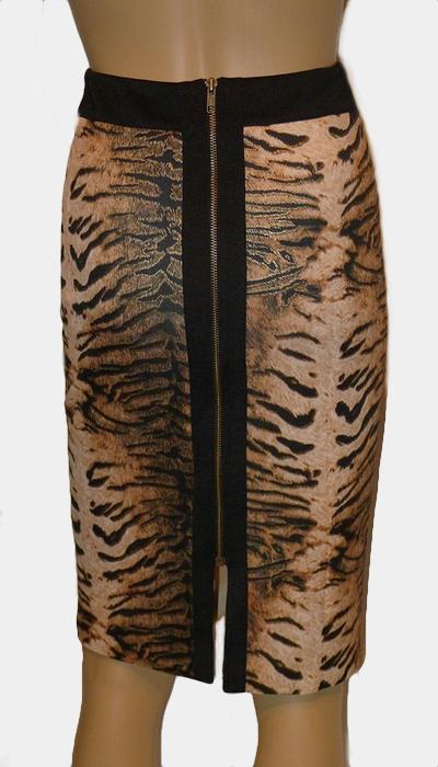 Leopard Pencil Skirt Back