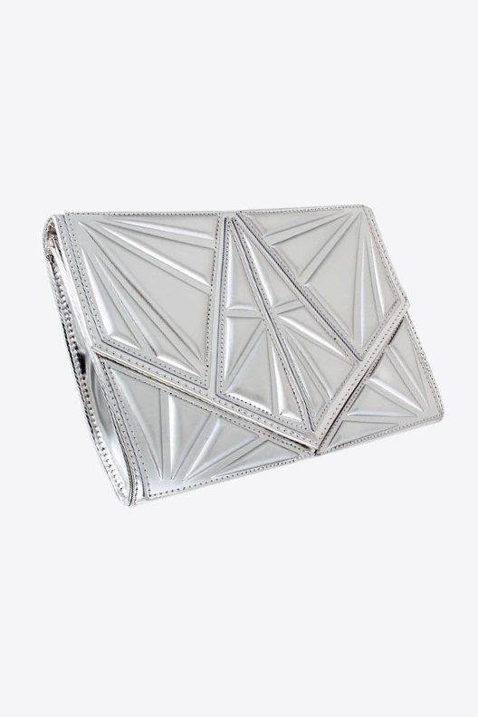 Silver Ultra Modern Clutch