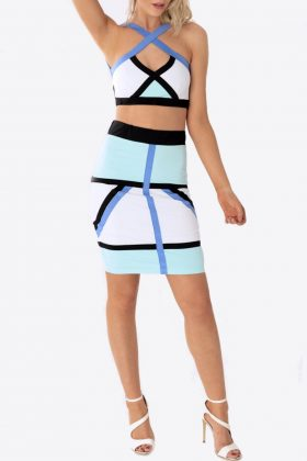 Bodycon Skirt with Crop Top