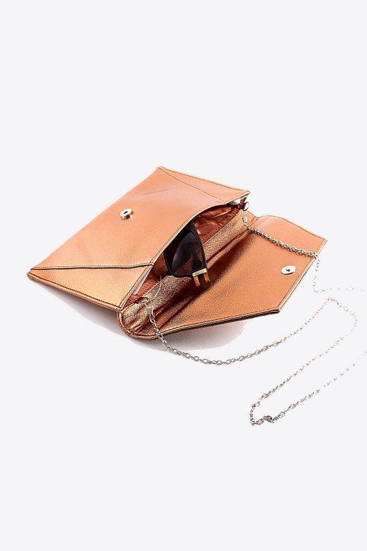 Copper Clutch Purse Inside