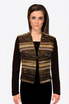 Black Gold Silver Embezzled Jacket