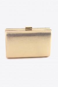 gold rhinestone box clutch back view