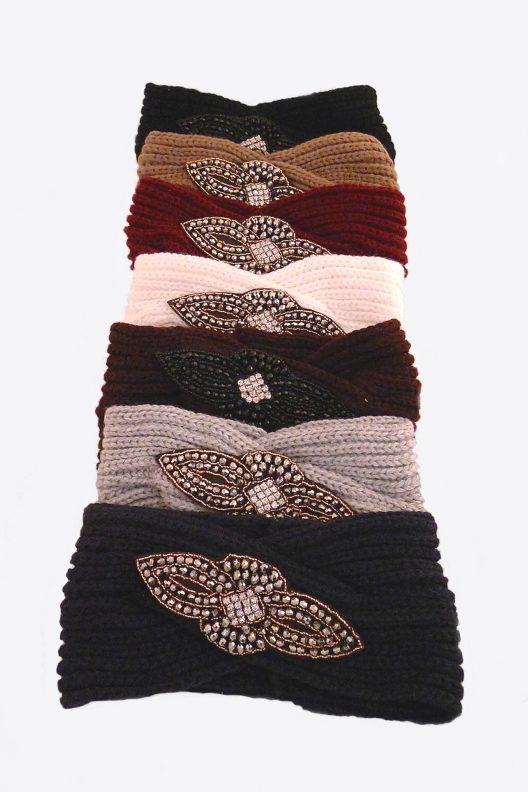 headband, ear warmer, headband with jewelry stones, ear warmer with jewelry stones