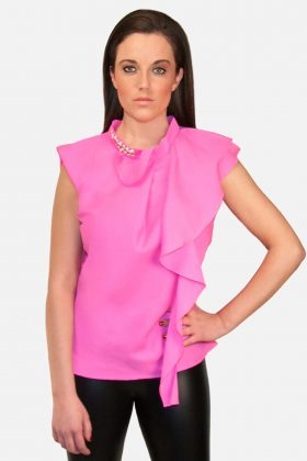 Pink Blouse with a Bit of Glitz