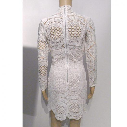 white lace dress back