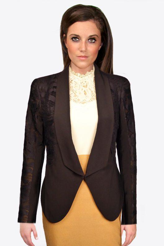Black Lace Blazer