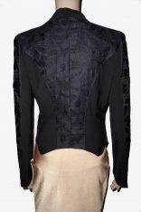 Black Lace Blazer Back View