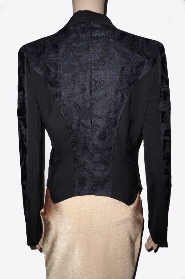 Black Lace Blazer Back View