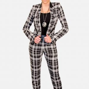 Checkered Pants in Black & White