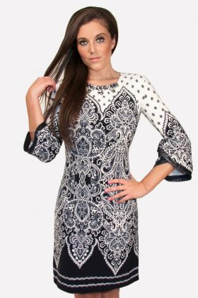 Paisley pattern dress Blue & White, Favori images, Favori, Favori in women's clothing