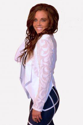 Gracia Blazer Off White Lace