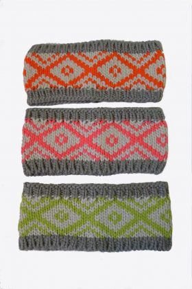 Knit Zig Zag Head Warmer Headband