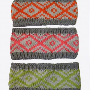 Knit Zig Zag Head Warmer Headband