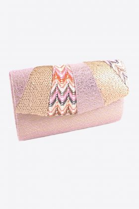 Pink Fashion Glitter Pink Clutch