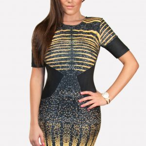 Deep Navy Blue Bodycon Dress BY LA PATEAU