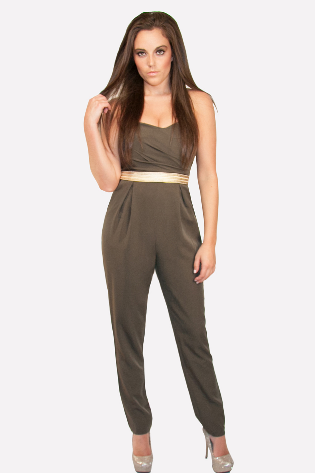 Jumpsuit, Dark Olive Green Jumpsuit