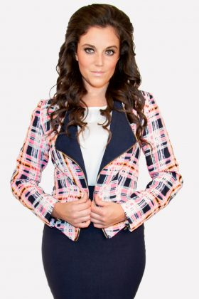 Plaid School Girl Jacket
