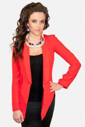 Hommage Red Blazer