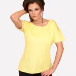 Yellow Sweat Top V Open Rhinestone Back