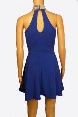 Royal Blue Dress Rear View