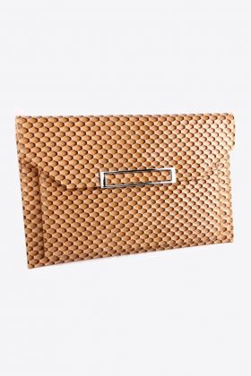 Snake Skin Faux Leather Clutch
