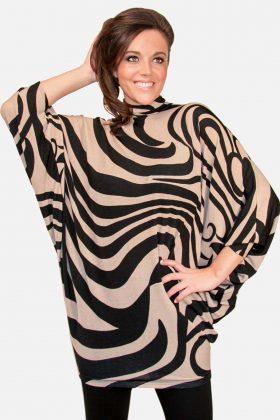 Tan Black Sweater Dress