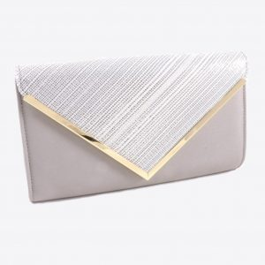 Sophisticated Tan Glitter Clutch Purse