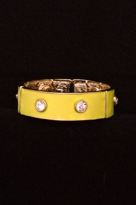 Lemon Yellow Crystal Bracelet