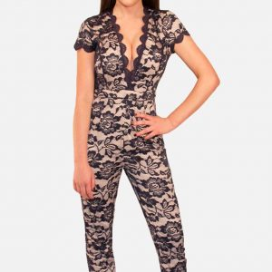 Navy Blue Lace Jumpsuit