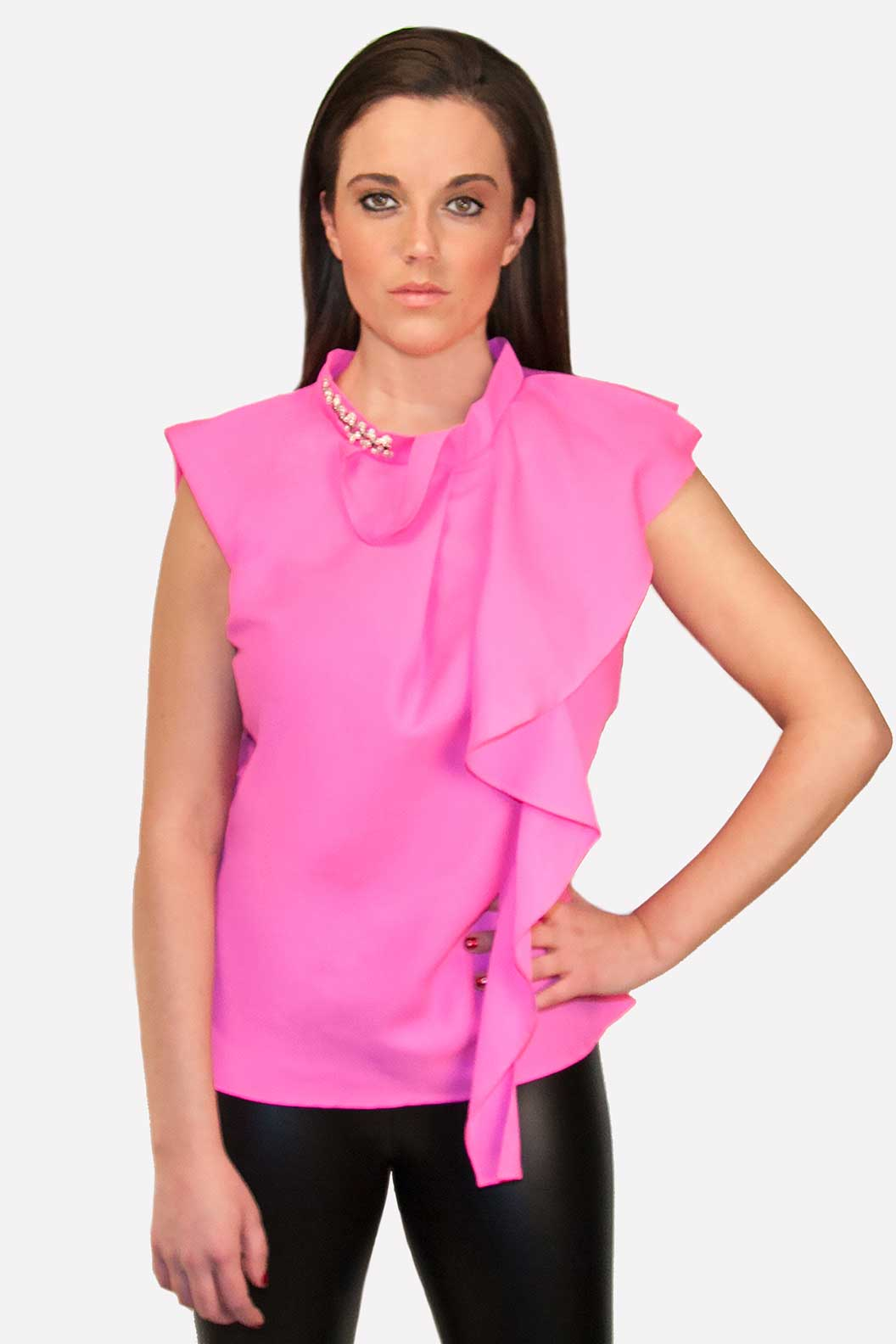 Look lively with this eye-catching Bit & Bridle Women's Tie-Dyed Blouse. Featuring a banded collar and Y-neck design you can comfortably wear this affordable garment at all your casual occasions. Banded Collar Y-neck with decorative shank buttons5/5(3).