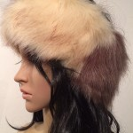 Taupe and Cream Faux Fur Head Warmer