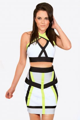 Bodycon Crop Top and Skirt