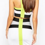 Bodycon Crop Top and Skirt rear view