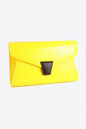 Yellow Envelope Clutch Bag